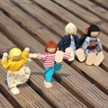 4pcs Baby Wooden Doll Family Members For Kids Child Play Toy Parents Puppet Toys Set Kid Children Toy Gifts Free Shipping
