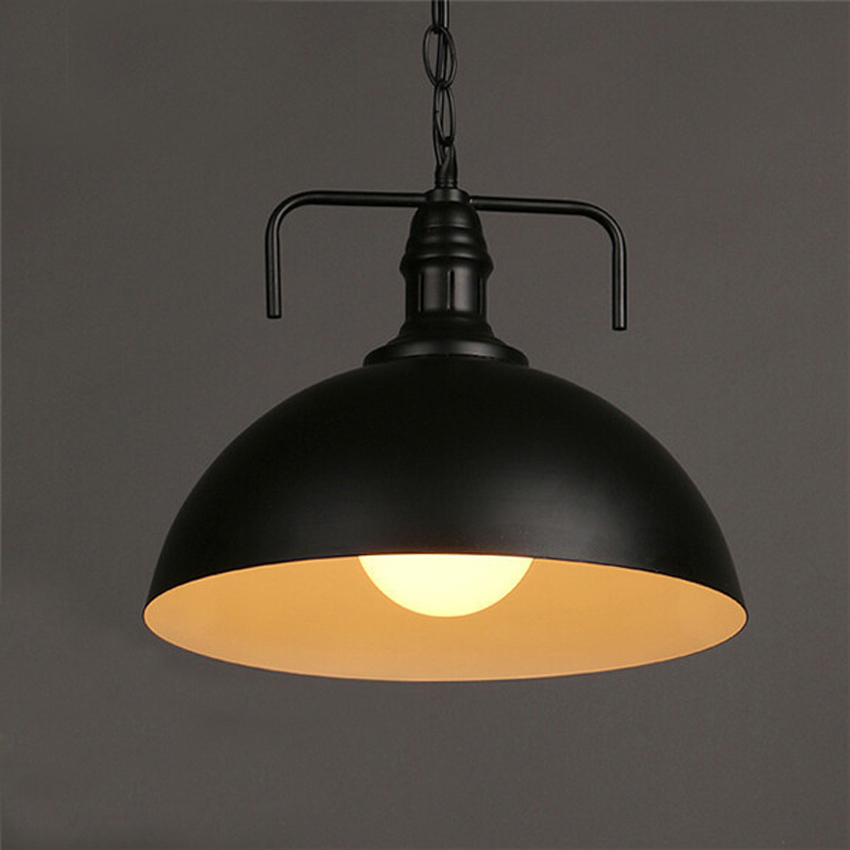 Loft Vintage industrial styles hanging lamps&lights chain pendant lights Dia 30cm aluminum and iron alloy art lampshade for bar vintage alloy hollowed body chain