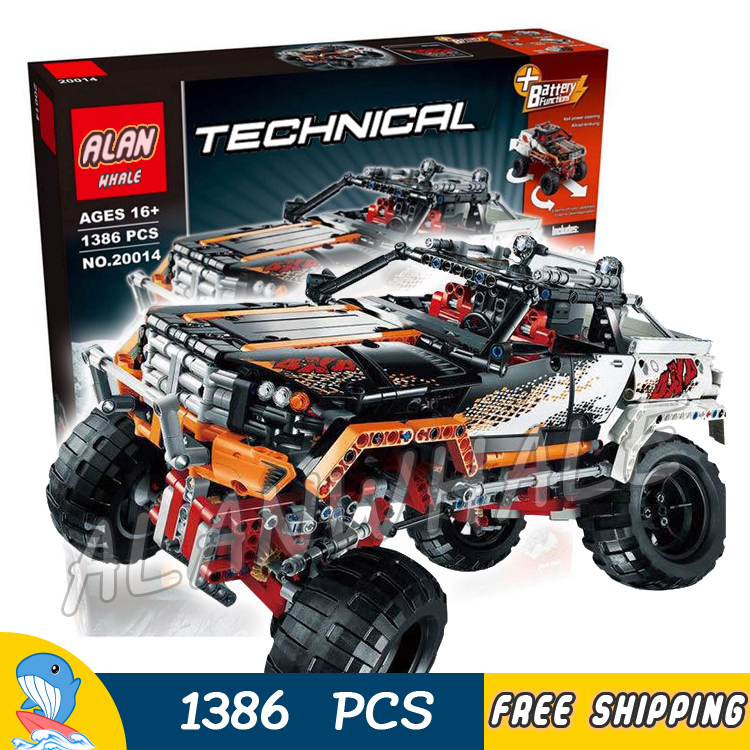 1386pcs 2in1 Technic Remote Controlled 4 x 4 Rock Crawler Off-road Truck 20014 Model Building Blocks Toys Compatible With Lego 2793pcs technic remote controlled arocs truck 20005 building kit 3d model blocks minifigures toys bricks compatible with lego