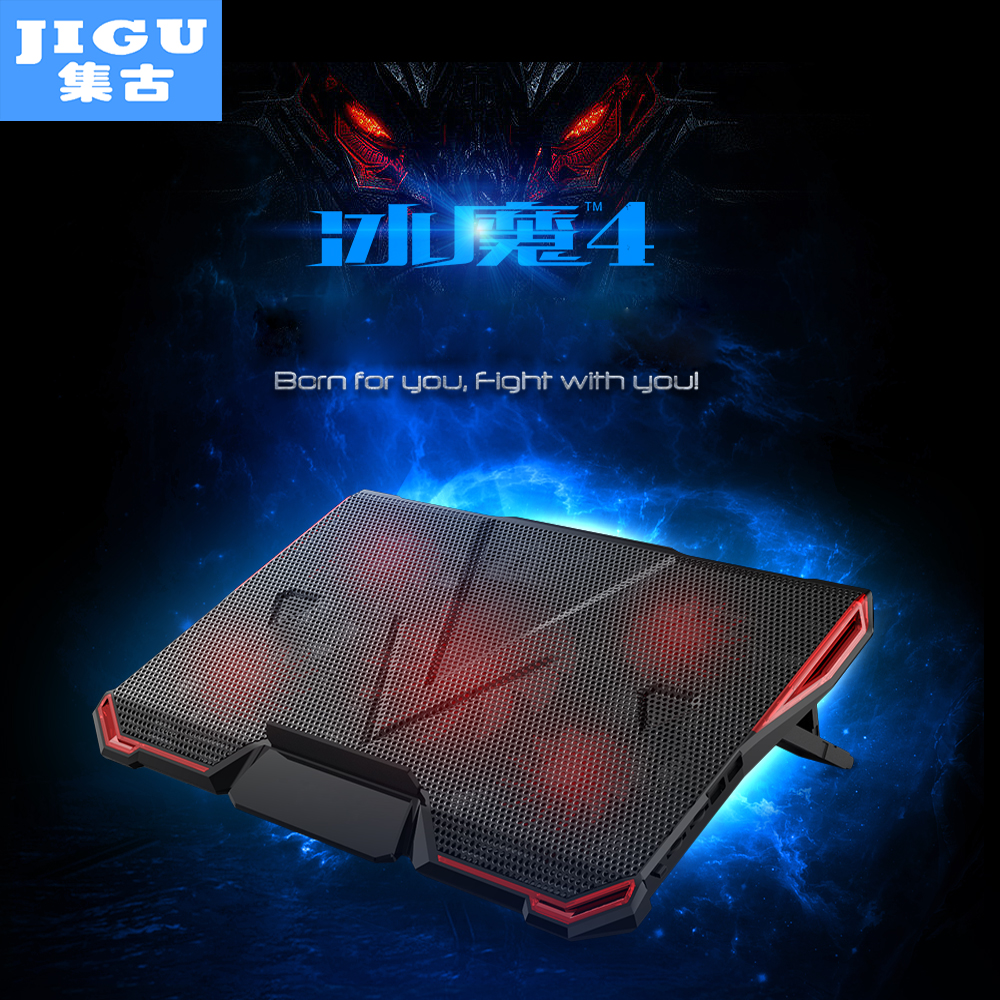 JIGU 5 FAN 2 USB Laptop Cooling Pad Adjustable Notebook Cooler +Holder for 12-17' Laptop usb fan ausdom s10 bluetooth headset sports wireless in ear earphone for iphone samsung huawei lg phones tablets