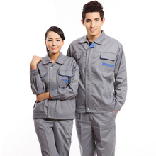 Spring autumn Unisex  long-sleeve set work wear long-sleeve factory workshop Uniform Manufacturers Selling Insurance Overalls  long sleeved overalls suit male wear spring and autumn workshop factory clothes jacket auto repair clothing sanitation tooling l
