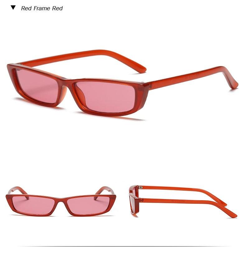 HTB1JFUIcFHM8KJjSZFwq6AibXXaA - Vintage Rectangle Sunglasses Women Brand Designer Small Frame Sun Glasses Retro Black Eyewear