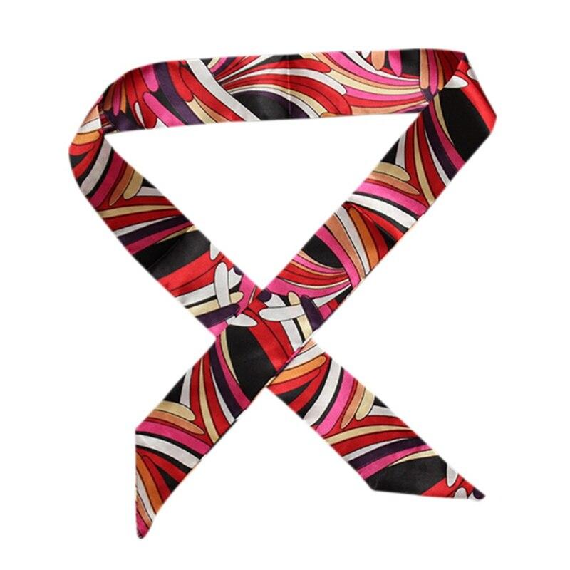 34 Color Stripe Plaid Silk Scarf Women Multi Use Hair Neck Head Bag Scarf Luxury Brand Designer Spring Winter Scarves Fall 2018