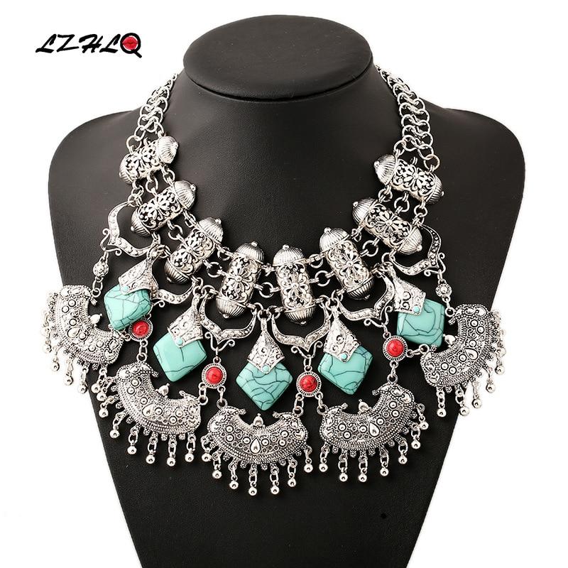 LZHLQ Bohemain Ethnic Bell Tassel Big Collar Choker Necklace Maxi 2019 Vintage Women Necklaces Pendants Collier Femme