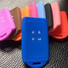 Силиконовый резиновый чехол для ключей автомобиля для Renault KOLEOS Kadjar для samsung QM5 4 кнопки карты смарт-чехол для ключа