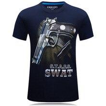 New Fashion Men T Shirts 3d Printed pistols Men Men Clothing Round Neck Boy Camisetas Short Sleeve Plus Size S-6XL