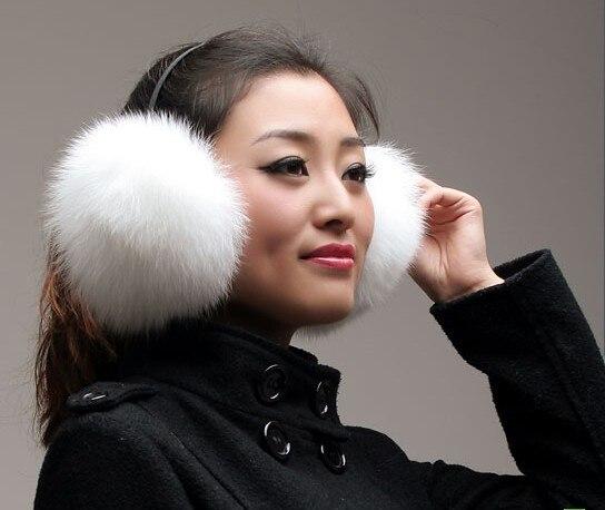 2012 fox fur earmuffs large fox fur earmuffs fur thermal