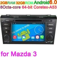 Mazda3 için 2004 2005 2006 2007 2008 2009 Octa Çekirdek Android 6.0 araç Bilgisayar Araç GPS DVD Oynatıcı PC 4G Stereo DVR Ses Navi