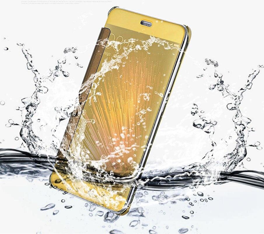 Xiomi Xiaomi Mi 5 5S Note2 Mirror Smart Clear Case Cover Xiaomi Redmi Note 3 4 4X 5A Pro Prime Flip Luxury Phone Cases Coque