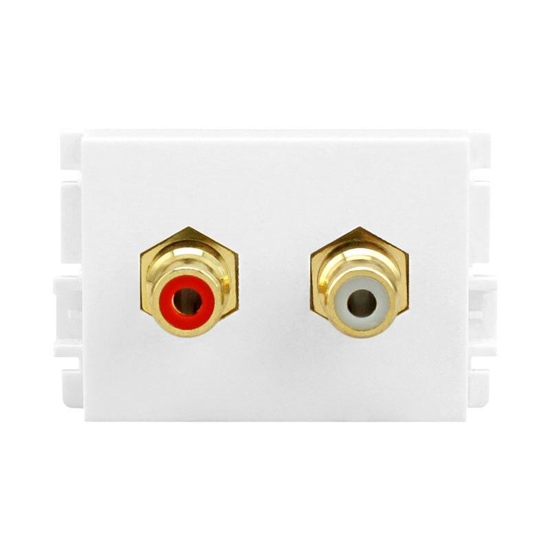 Tomada de parede Em Linha Reta-Módulo de linha Amplificador de Áudio Cabo DVD Painel Tomada RCA Tomada Eléctrica Plugues Adaptadores