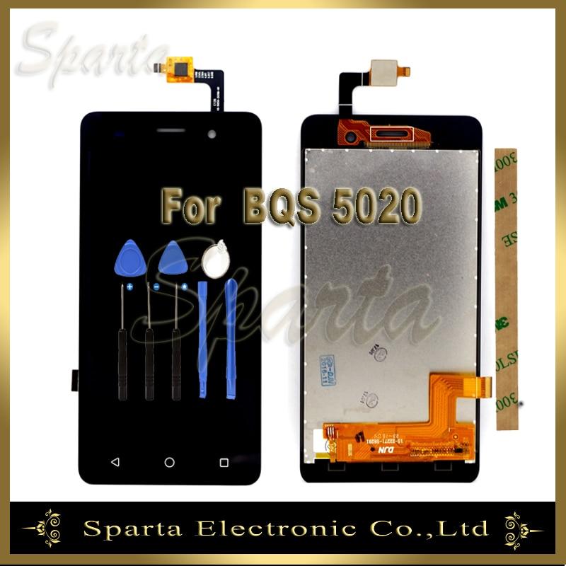 imágenes para Pantalla LCD probado Para BQ BQS-5020 BQS Huelga de 5020 Asamblea Digitalizador Pantalla LCD 3 m Sticker + Herramientas + Track