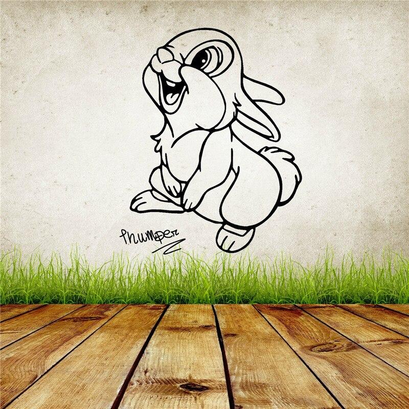 G394 THUMPER králík WALT Roztomilý králík vinyl Wall Art nálepka pro dívku ložnice Dekorativní odnímatelný Wall Decal Home Decor  t