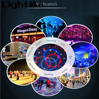 2016 High Quality Professionnal 54 X 1W RGBW LED Pinspot DMX512 Stage Lighting With EU US