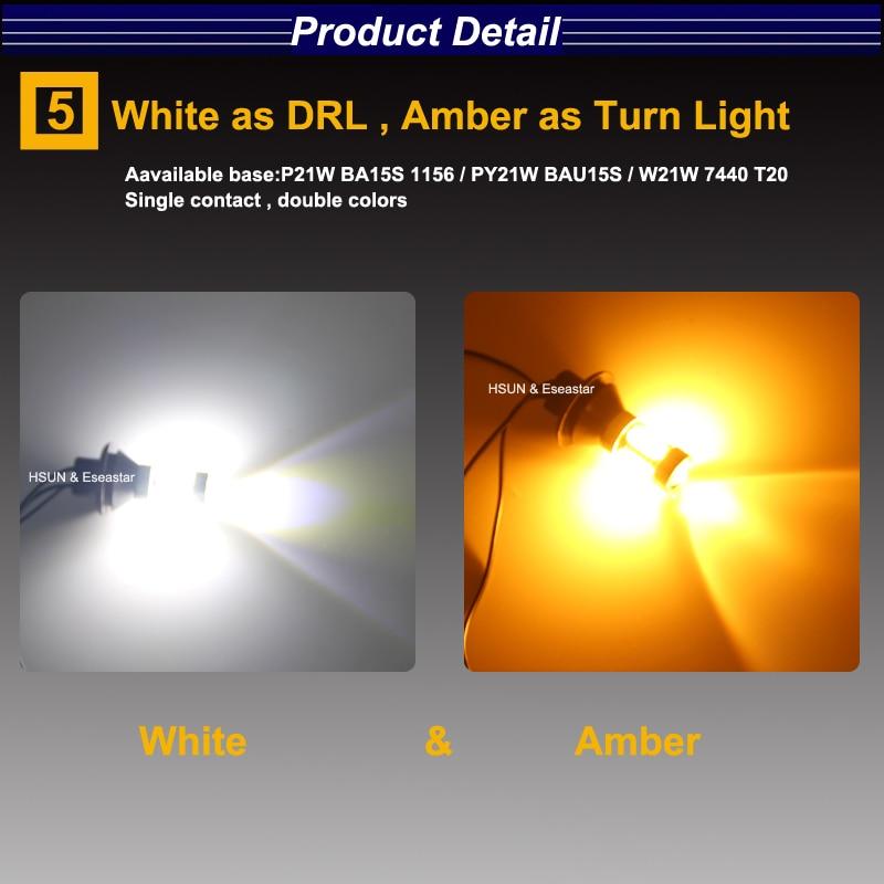 Eseastar 2pcs BA15S 7440 3156 S25 Yüksək Güclü LED Avtomobil - Avtomobil işıqları - Fotoqrafiya 6