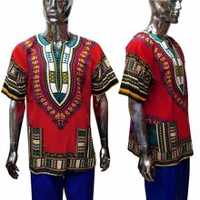 Round Collar African national short sleeve T-shirt 2019 men clothes african clothing for dashiki shirt  XDMT01