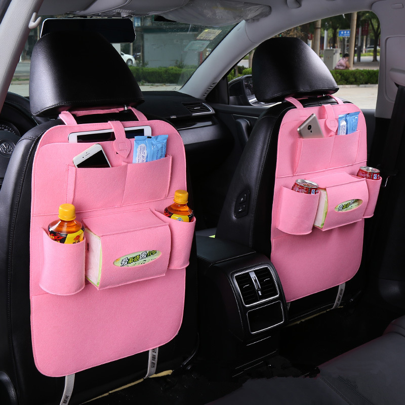 New Universal 1PC Car Auto Seat Back Protector Cover Car Interior Children Kick Mat Storage Bag Accessories Car Styling