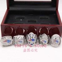 5pcs Set 2001 2003 2004 2014 2016 New England Patriots Super Bowl Championship Rings Set Drop