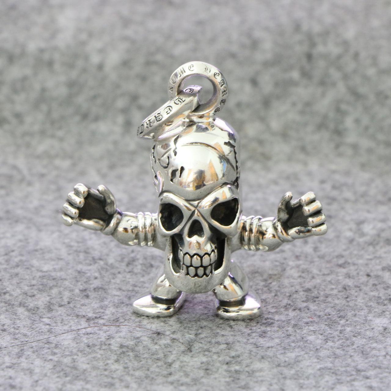 Здесь продается  Retro Thai Silver Personality hip-hop Punk Skull Pendant Hammer Thunder Creative Sterling Silver Pendant Male  Ювелирные изделия и часы