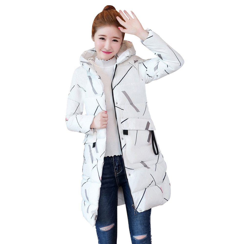 2019 Newly High Quality Women Long Sleeve Outerwear Cotton-Padded Jackets Pocket Hooded Coats free shipping 40pNo17