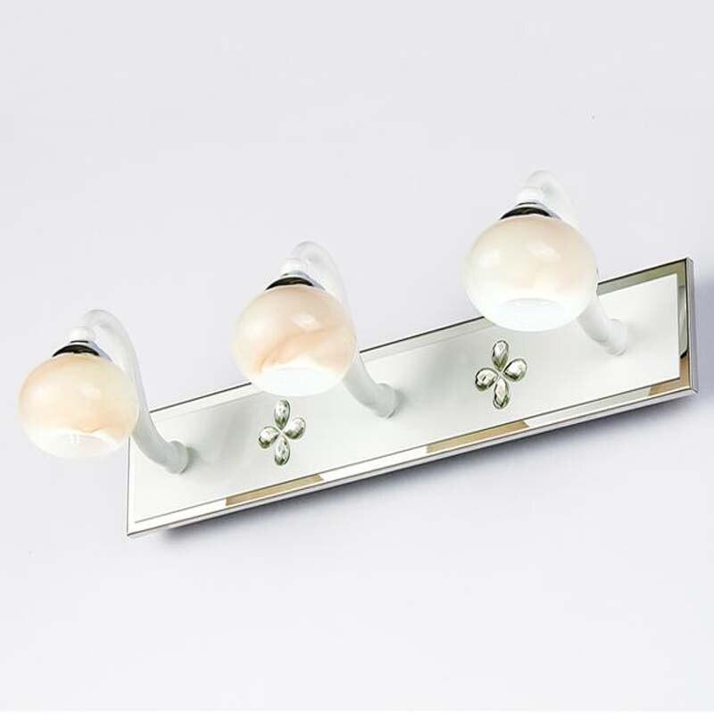 moderno led trucco parete lampade luce specchio del bagno di lusso di cristallo camera da letto