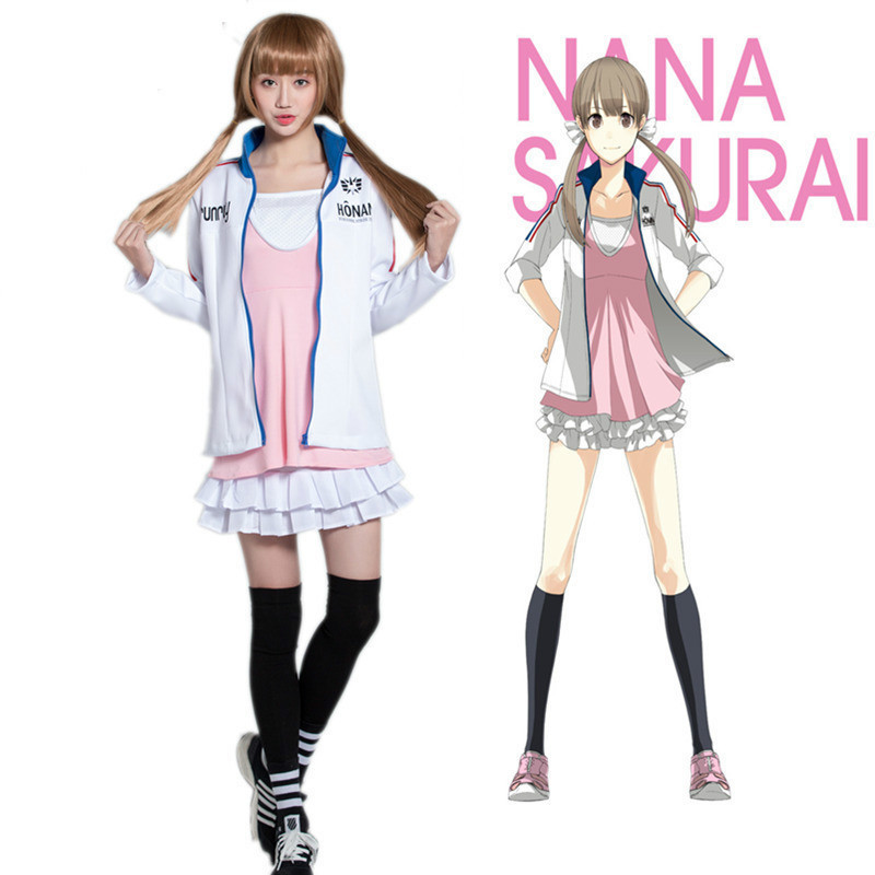 f925f2c0e8de Высокое качество принц Страйд Nana Сакураи Спортивная школьная форма  Косплэй Костюм Японии для девочек школьная форма