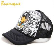 CHARAS brand men/women baseball Hip hop street  sunhat Cartoon print adjustable Tennis cap Unisex Punk hat 2019 new