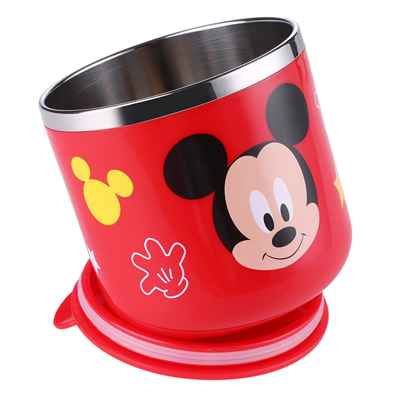 Disney SUS 304 Double Walled Insulated Thermose Thermocup Tumbler Baby Cup Kids Water Bottle Mickey Cup 290ml With Handle