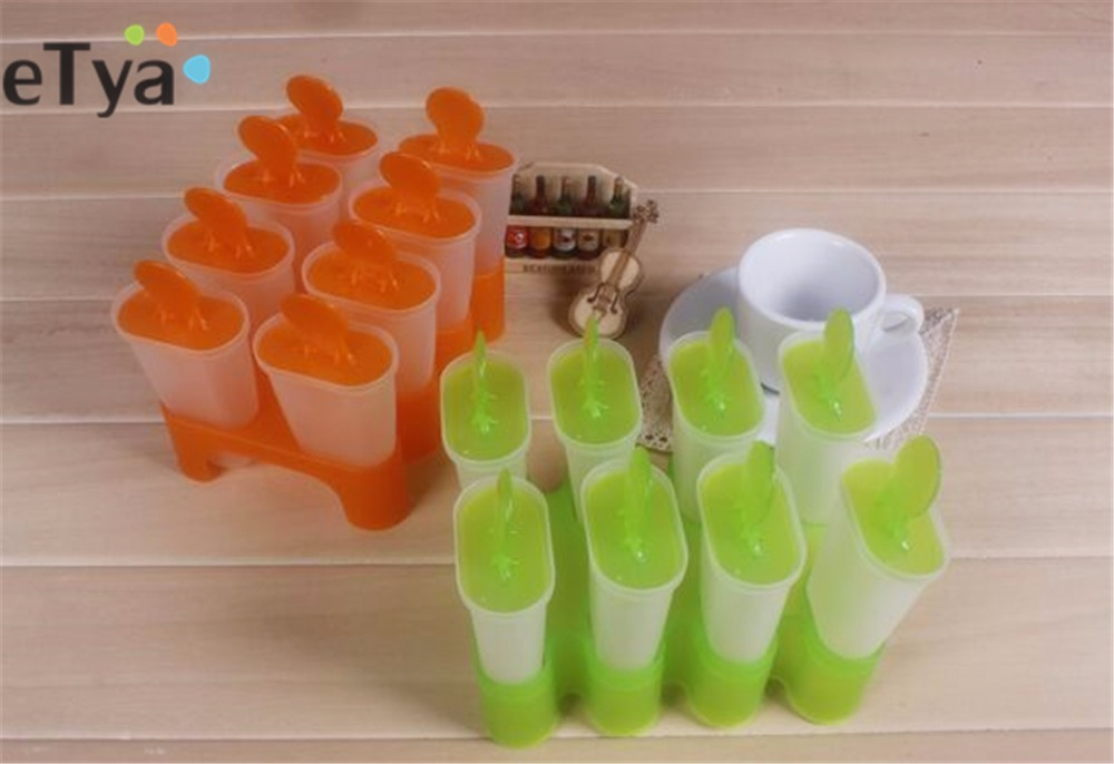 Summer New 8 Cells Ice Cream Tubs Pop Mold Popsicle Maker Refrigerators DIY Frozen Lolly Mould Tray Kitchen Gadgets Tools