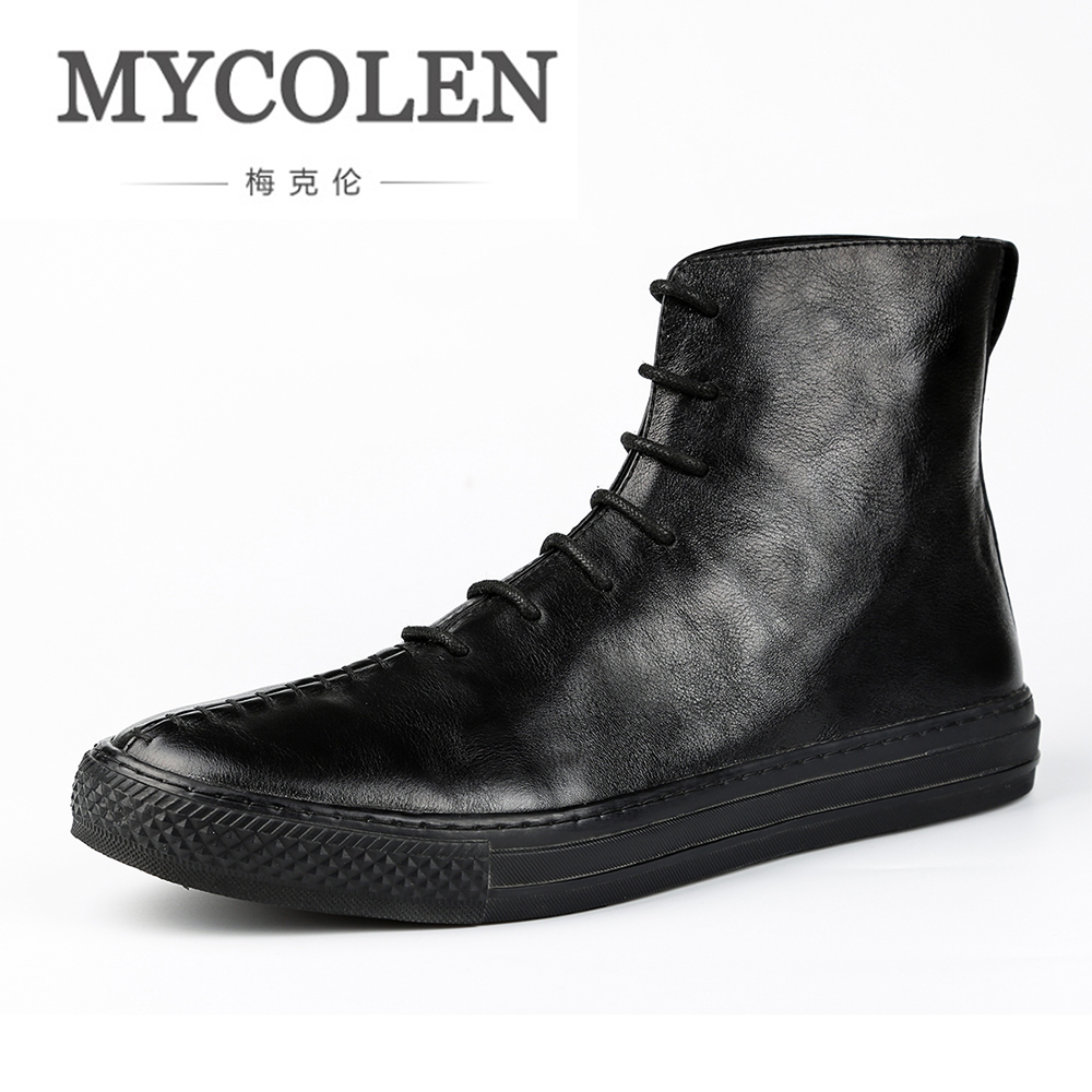 MYCOLEN 2018 New Winter Fur Warm Fashion Ankle Boots Male Shoes Adult Casual  Boots For Men Comfort Lace-Up FootwearMYCOLEN 2018 New Winter Fur Warm Fashion Ankle Boots Male Shoes Adult Casual  Boots For Men Comfort Lace-Up Footwear
