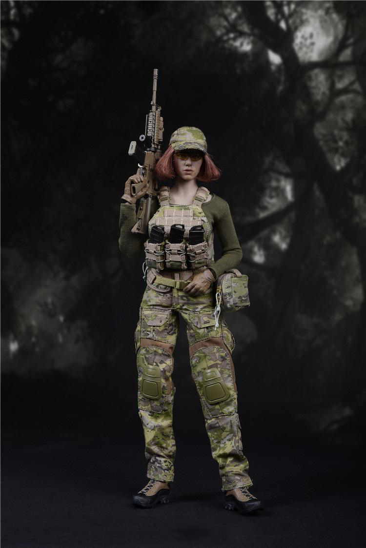 1/6 Scale US Navy Seals CP Camouflage Female Suit for 12 Figures Bodies Accessories No Body and Head 1 6 scale camouflage suit fg015 desert