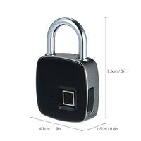 10 шт./лот USB Перезаряжаемые Smart Keyless Отпечатков пальцев замок IP65 Водонепроницаемый Anti Theft замок безопасности двери Чемодан случае блокировки