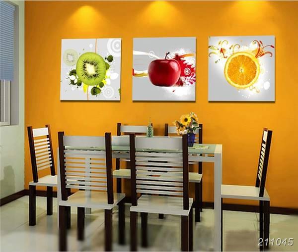 €6.63 32% de DESCUENTO 3 paneles pared arte cocina decorativo fruta pintura  impresa lienzo moderno impresiones imagen para salón comedor decoración ...