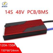 Дейли 14 s батареи pcm bms 120a 150a для е-байка Сумки из натуральной кожи lili литий-ионный аккумулятор управления Системы 48 v с балансом для негераторов солнечной энергии Системы