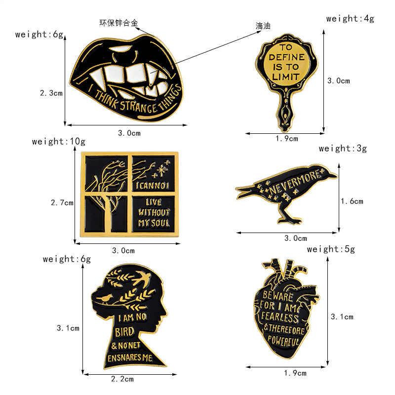 Kualitas Tinggi Kreatif Bros Lark Burung Jantung Bibir Kerah Pin Topi Ransel Lencana Eropa dan Amerika Serikat Perhiasan Populer
