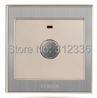 Free Shipping Wall Switch Acoustic Control Delay Switch Touch Control Switch Champagne Gold Color