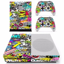 2016 Hoonigan Full Body Skin Sticker Cover Protector Decal for XBOX ONE Slim Console Kinect and 2 Controller Skins xbox one S