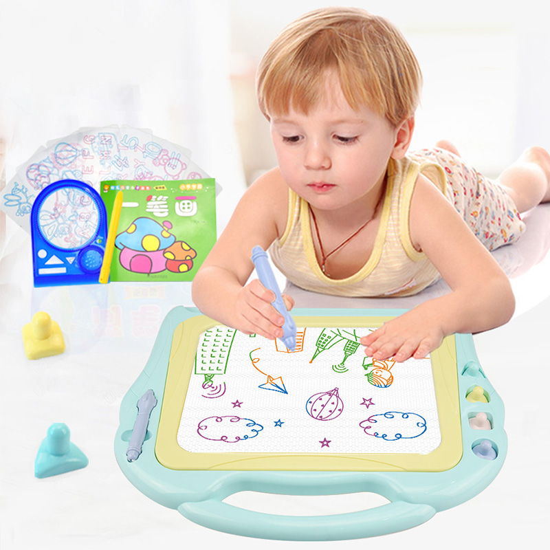 Huanger Magnetic Drawing Board Kids Painting Toys Child Preschool Educational Learning Large Size 4 Colour Drawing