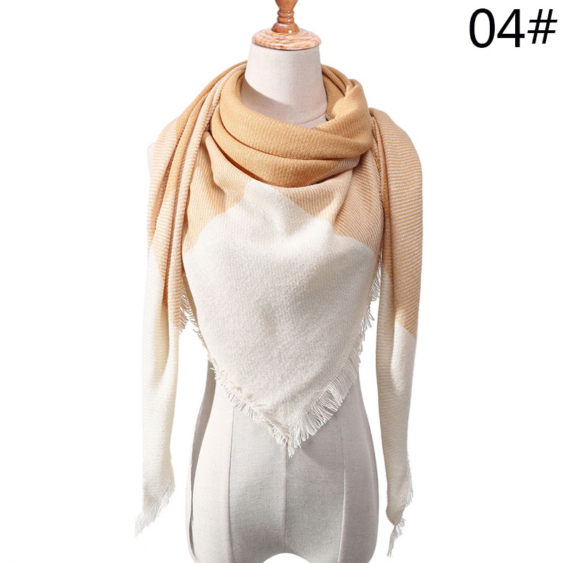 Бренд Evrfelan, шарфы, Прямая поставка, женский зимний шарф, высокое качество, плед, одеяло, шарф и шаль, большой размер, плотные шарфы, шали - Цвет: W15