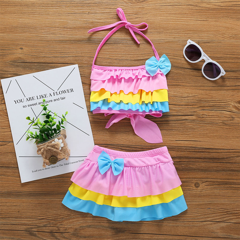 Children Swimwear Kids Swimwear Girls Beachwear Seaside Girls Cute Fashion Summer Beach Cute Swimwear Bathing Suit Baby Clothing funfeliz flamingo swimsuit for girls 2 8 years one piece girls swimwear cute unicorn kids swimming suit children bathing suits