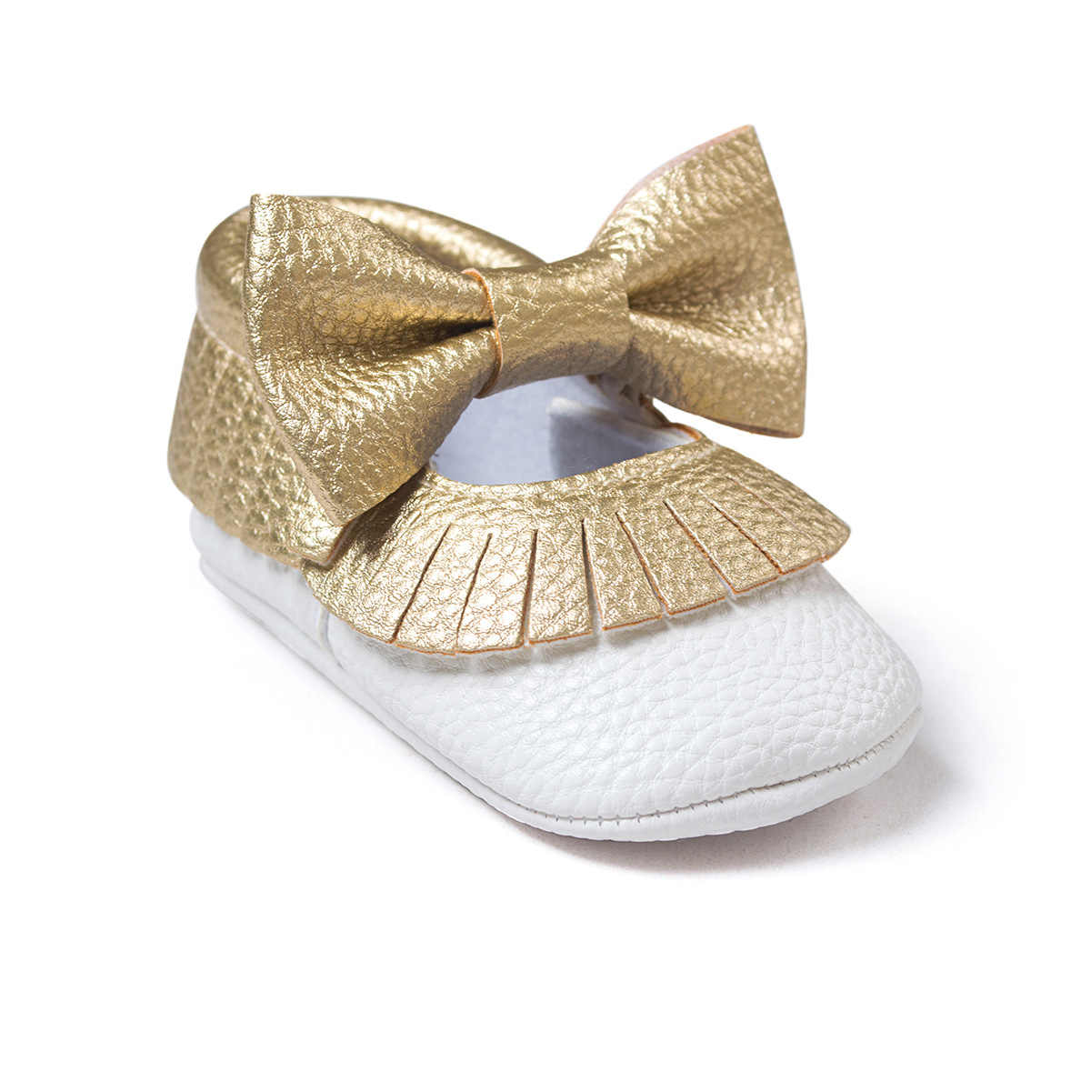 046097bde3 Newborn Black Gold Tassel Bowknot Baby Shoes PU Leather Baby Toddler Girl  Shoes Baby Infant Moccasins Shoes First Walker