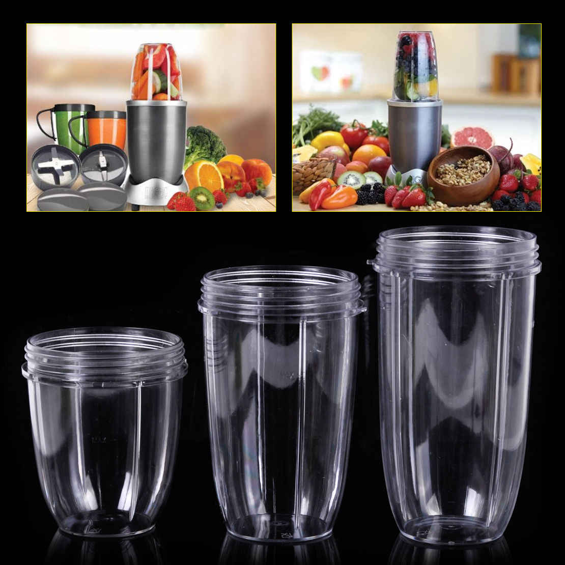 Juicer Cup Mug Clear Replacement For NutriBullet Nutri Bullet Juicer 18/24/32OZ 2018 New Arrival