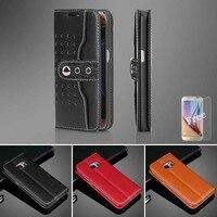 Luxus Fall Für Samsung Galaxy S7 rand Fall Brieftasche Flip buch Cases S7 + Freies Film