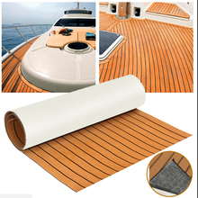 1 Pcs 6mm Thick Self-Adhesive 94x23 Foam Teak Decking EVA Marine Flooring Boat Sheet Accessories 6 Color Non-skid