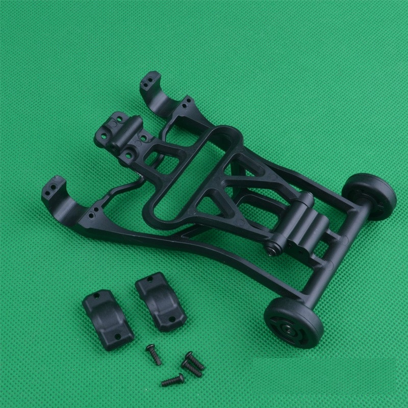 1 Set FY04 05 Wheelie Bar Set Vehicles Protection Black Plastic Car Shell Protective Cover for Four-wheel Drive Car Upgrade Part