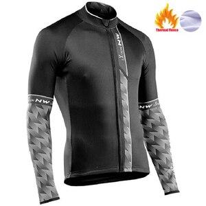 Image 2 - Nw 2020 camisa térmica de inverno para ciclismo, jaqueta corta vento de lã, quente, roupas para bicicleta
