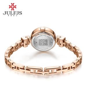 Image 5 - Mały pazur ustawienie masy perłowej Julius zegarek damski japonia Quartz godzina dzieła moda kobieta zegar łańcuch bransoletka dziewczyna pudełko