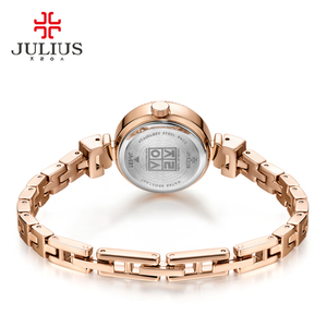 Image 5 - Small Claw setting Mother of pearl Julius Womens Watch Japan Quartz Hour Fine Fashion Woman Clock Chain Bracelet Girl Gift Box