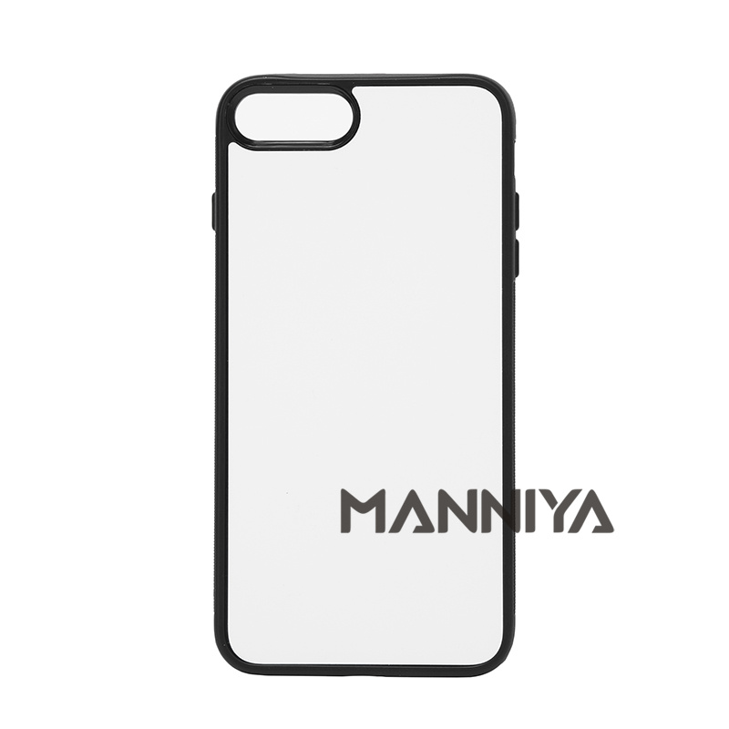 imágenes para MANNIYA 2D Sublimación Blanco caucho de TPU + PC para el iphone 7 plus con Inserciones De Aluminio y pegamento Envío Gratis! 50 unids/lote