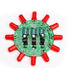 diy electronic kit set LED round water light making kit for Skill training Solde