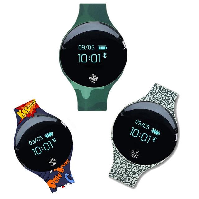 2018 Fashion Smart Wrist Watch Bluetooth Smart Bracelet Sports Fitness Tracker D